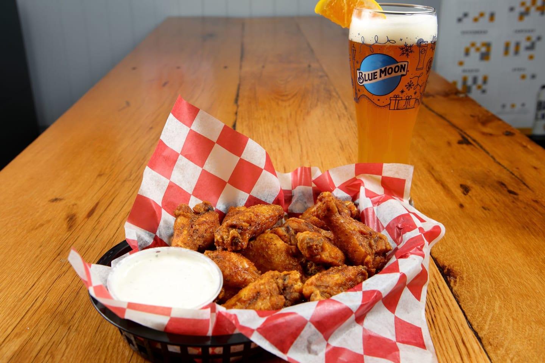 cajun wings and beer