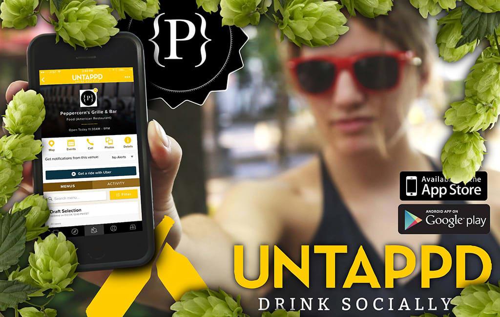 untappd app in hand