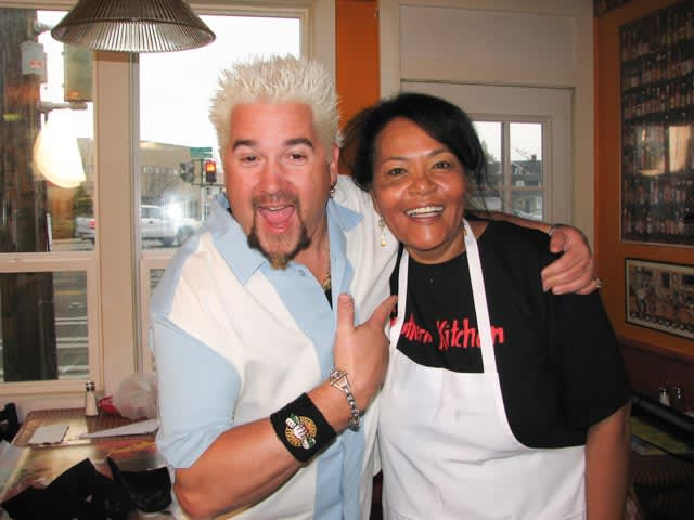 Guy Fieri from Diners Drives Ins and Dives with Gloria