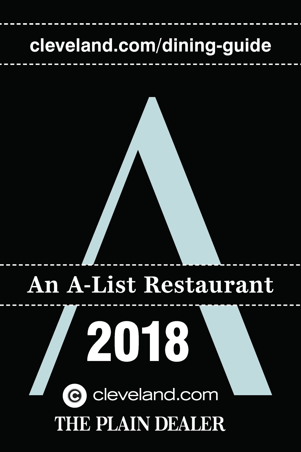 an a-list restaurant 2018 - the plain dealer cleveland.com/dining-guide