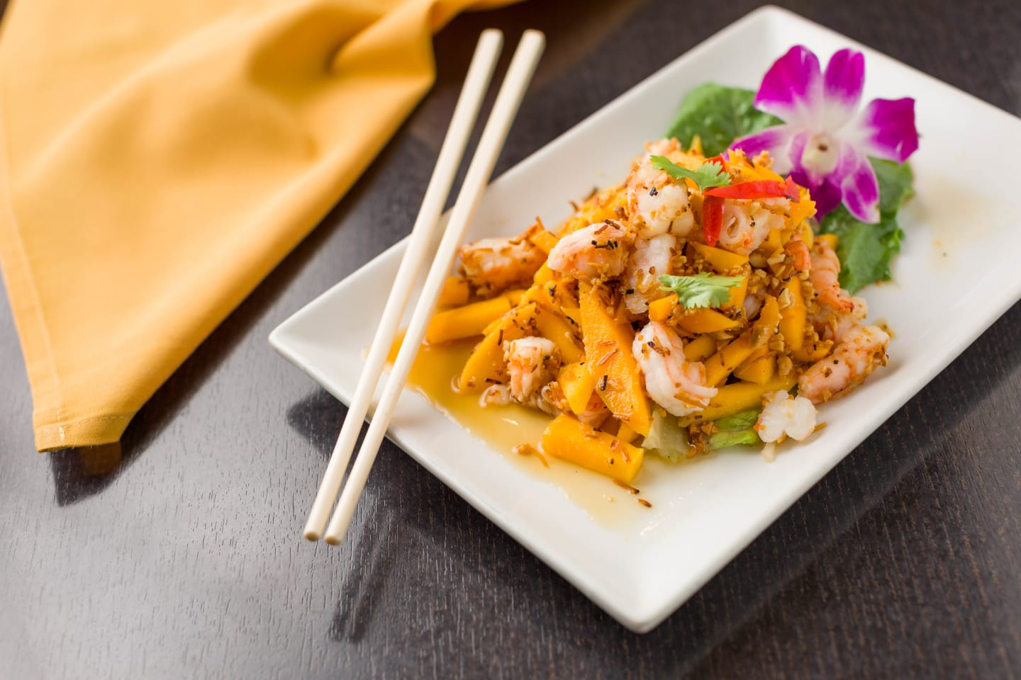 coconut mango shrimp