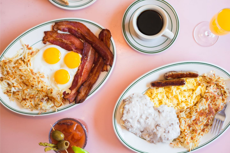 eggs bacon hash browns breakfasts
