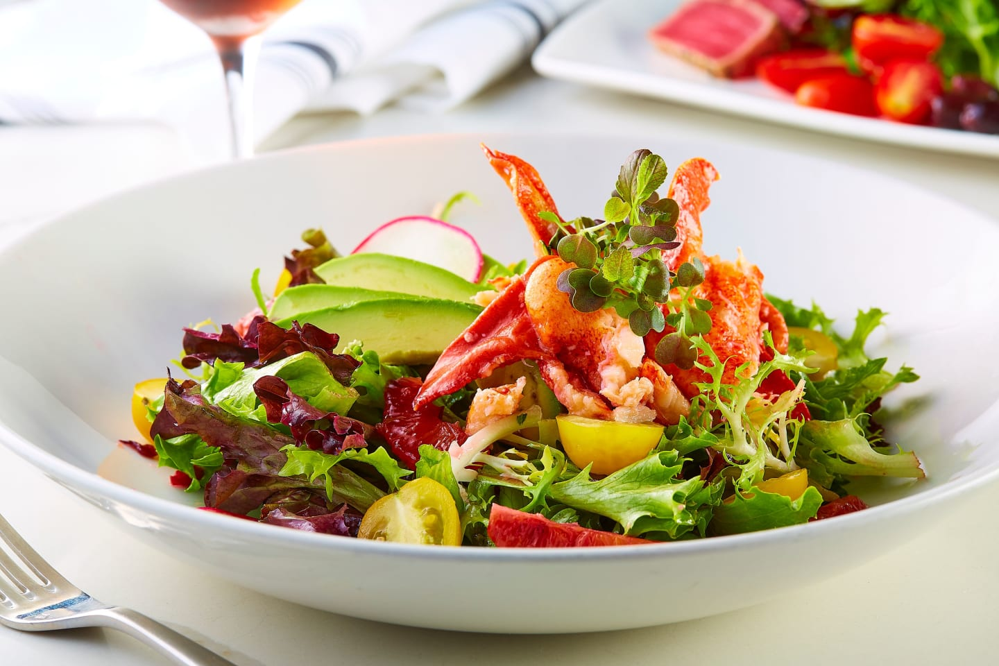 maine lobster and avocado salad