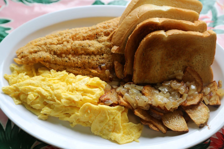 Catfish Fillet Breakfast