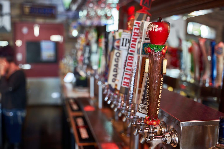 Beer Taps inside True Grit Tavern