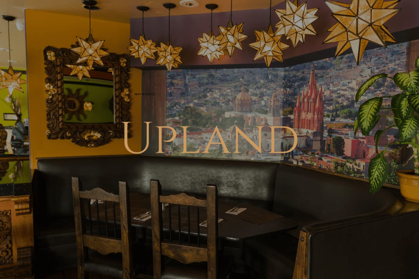 view the upland menu