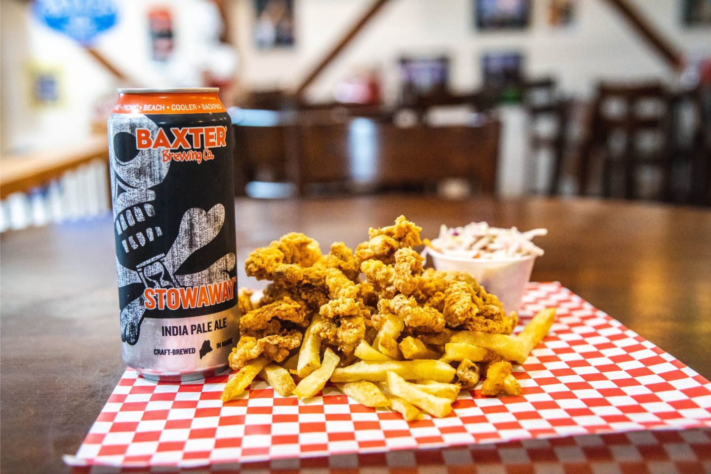 clam strips and beer