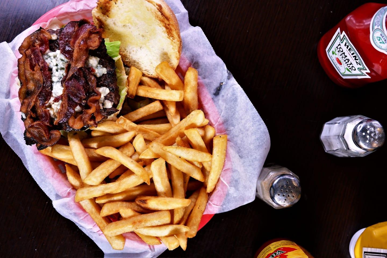 bleu cheese bacon burger