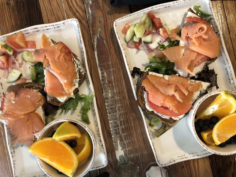 smoked salmon trays