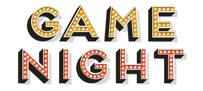 game night text graphic