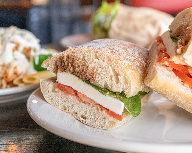 Mozzarella Tomato Basil Sandwich