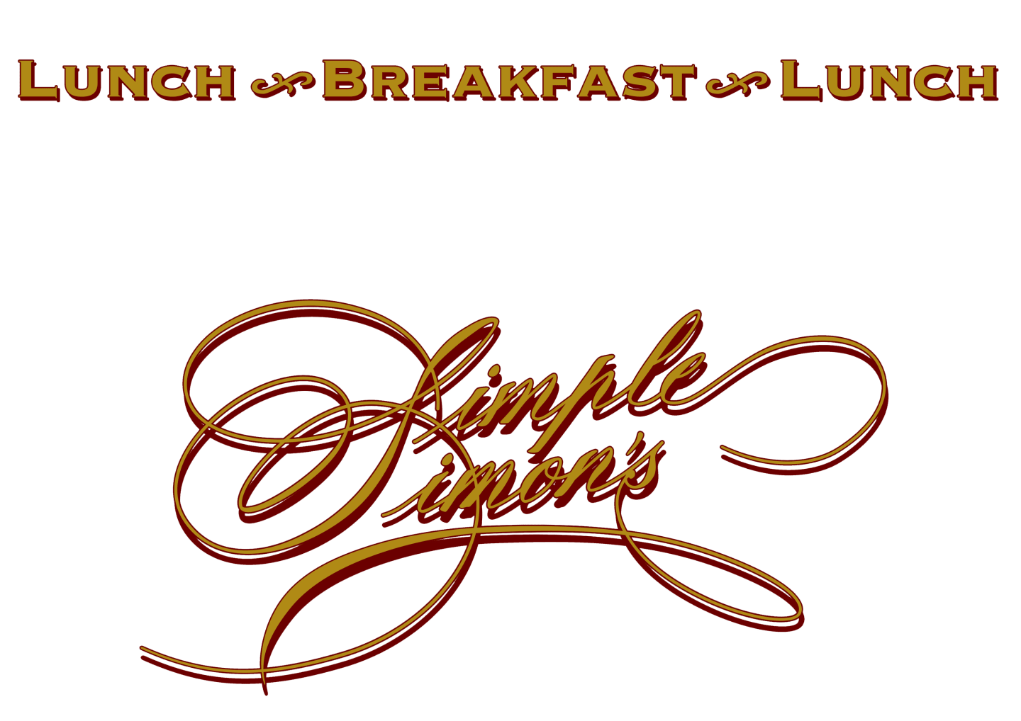 lunch breakfast lunch simple simon's logo