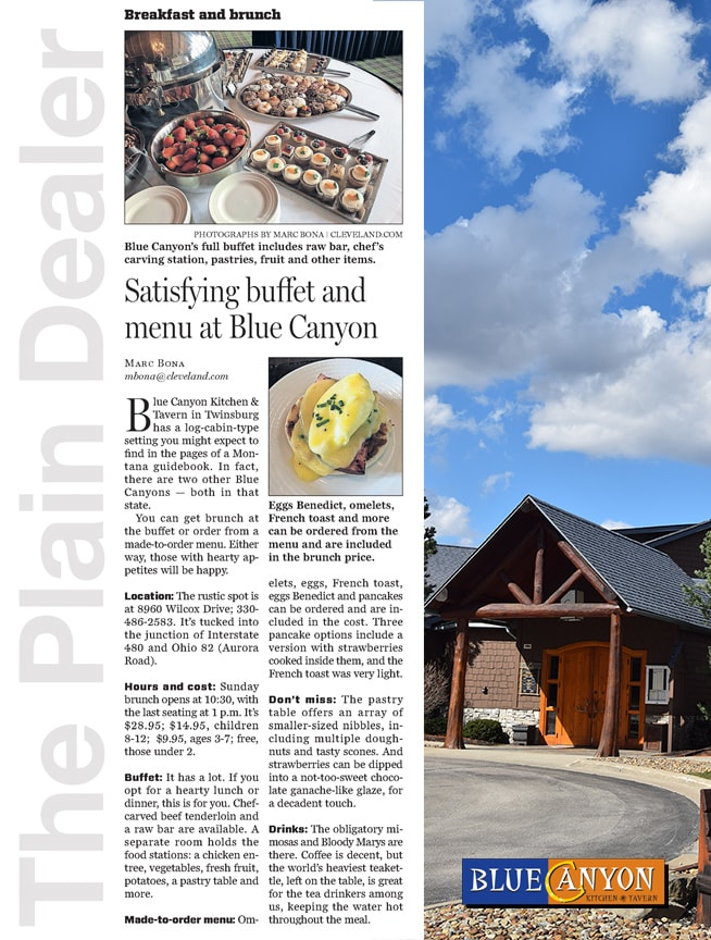 Satisfying buffet and menu article