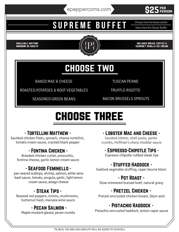 downloadable menu - supreme buffet