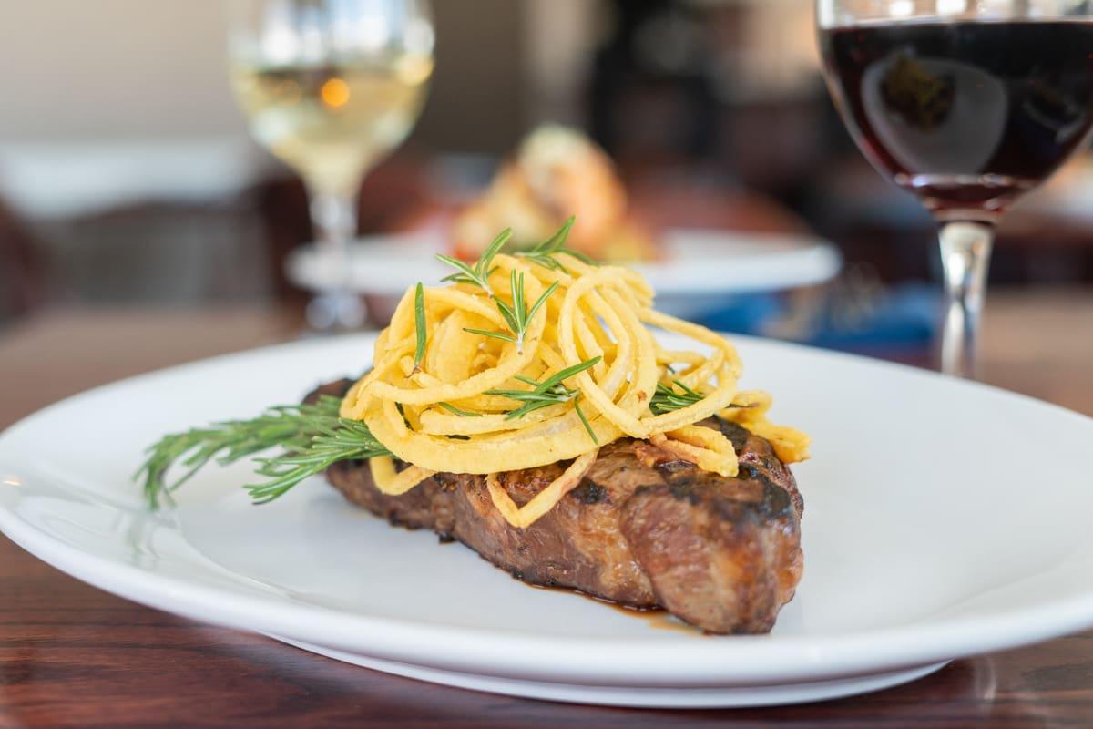 sirloin steak plate