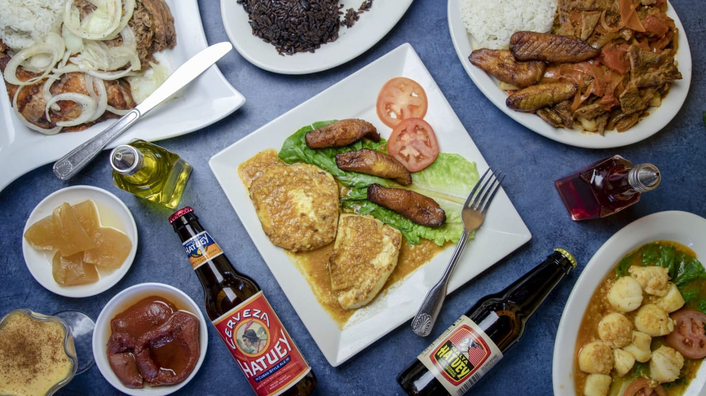 several dishes with beer