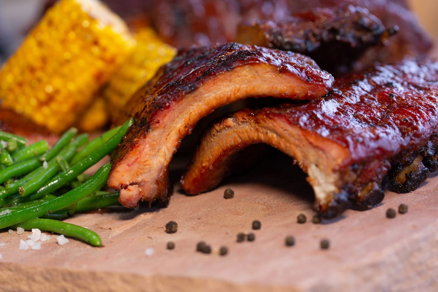 ribs with sides
