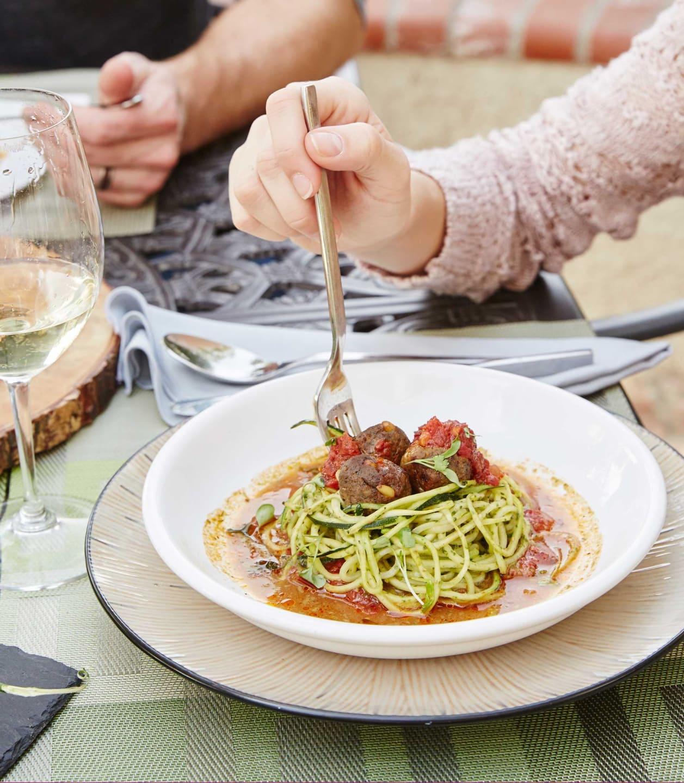 bowl of veggie pasta
