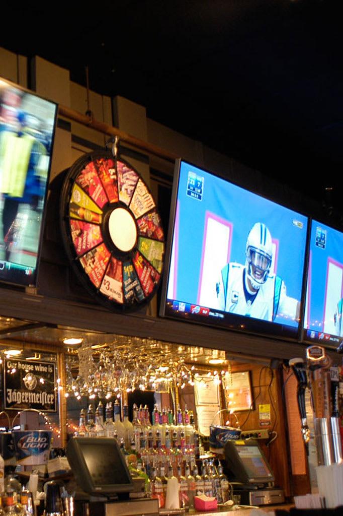 TVs above bar
