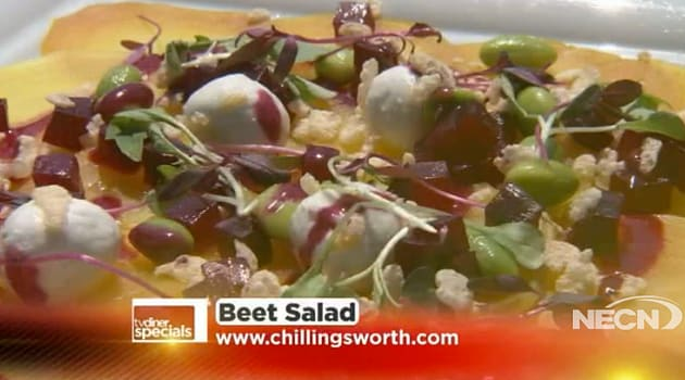 beet salad on TV