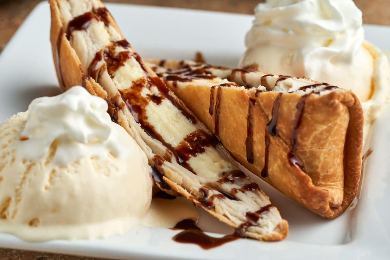 Fried Cheesecake Wraps