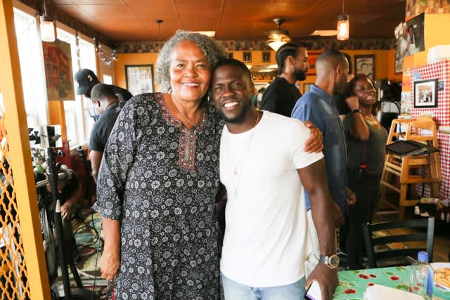 Kevin Hart with Gloria