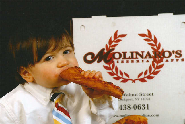 Child eating bread