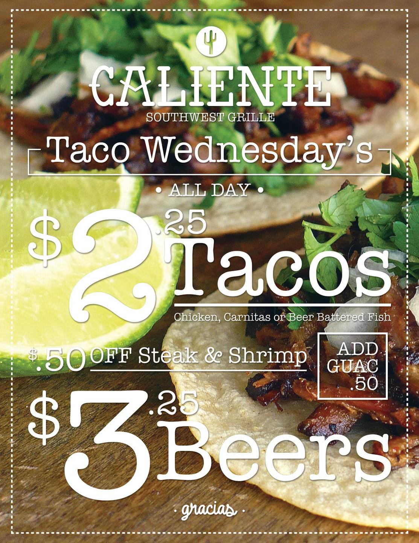 Taco Wednesday flyer