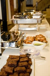 We'll set up your catered event at your location or ours.