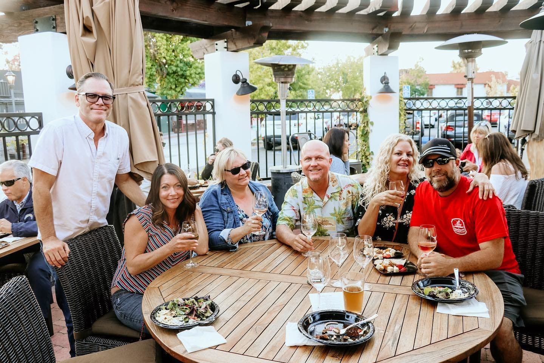people Enjoying Wine Club