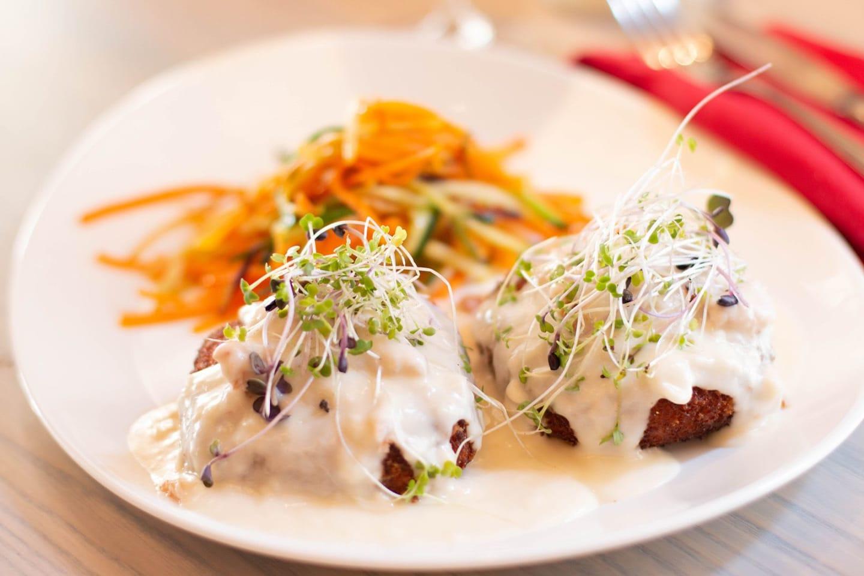 sweet potato crab cake dinner
