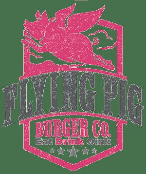 Flying Pig Burger Logo