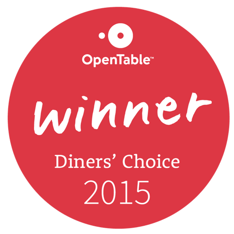 open table winner diner's choice 2015