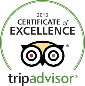 2016 certificate of excellence from trip advisor
