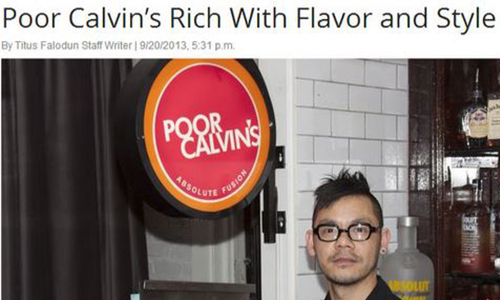 poor calvin's rich with flavor and style
