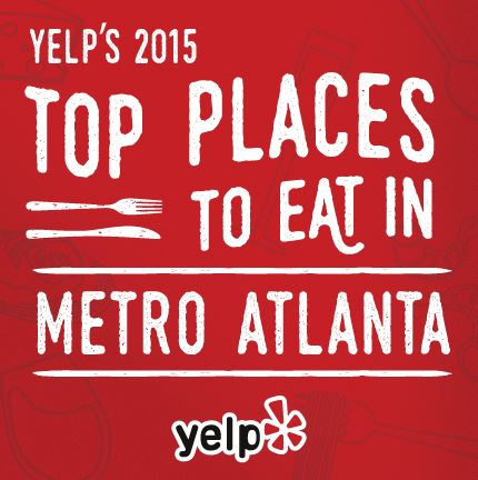 yelp's 2015 top places to eat in metro atlanta