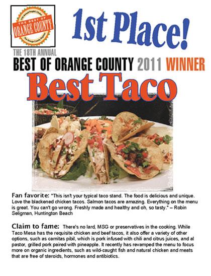 Best of Orange County 2011 Winner Magazine Cover