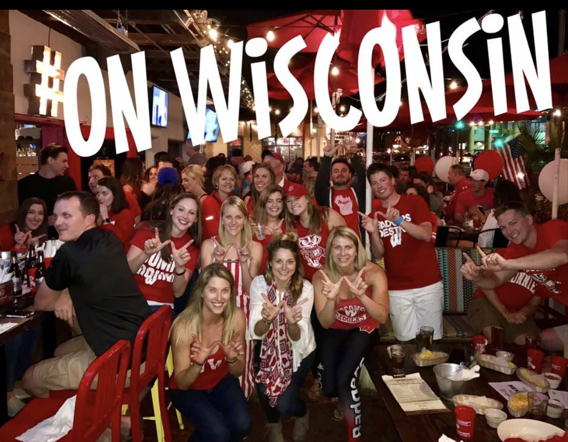 Wisconsin fans at Loco Patron