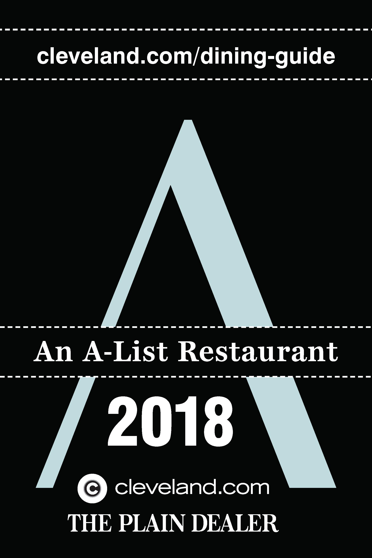A-List Restaurant Award 2018