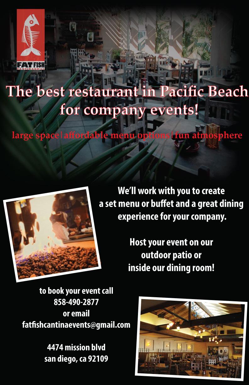 Fat Fish Cantina Grill flyer