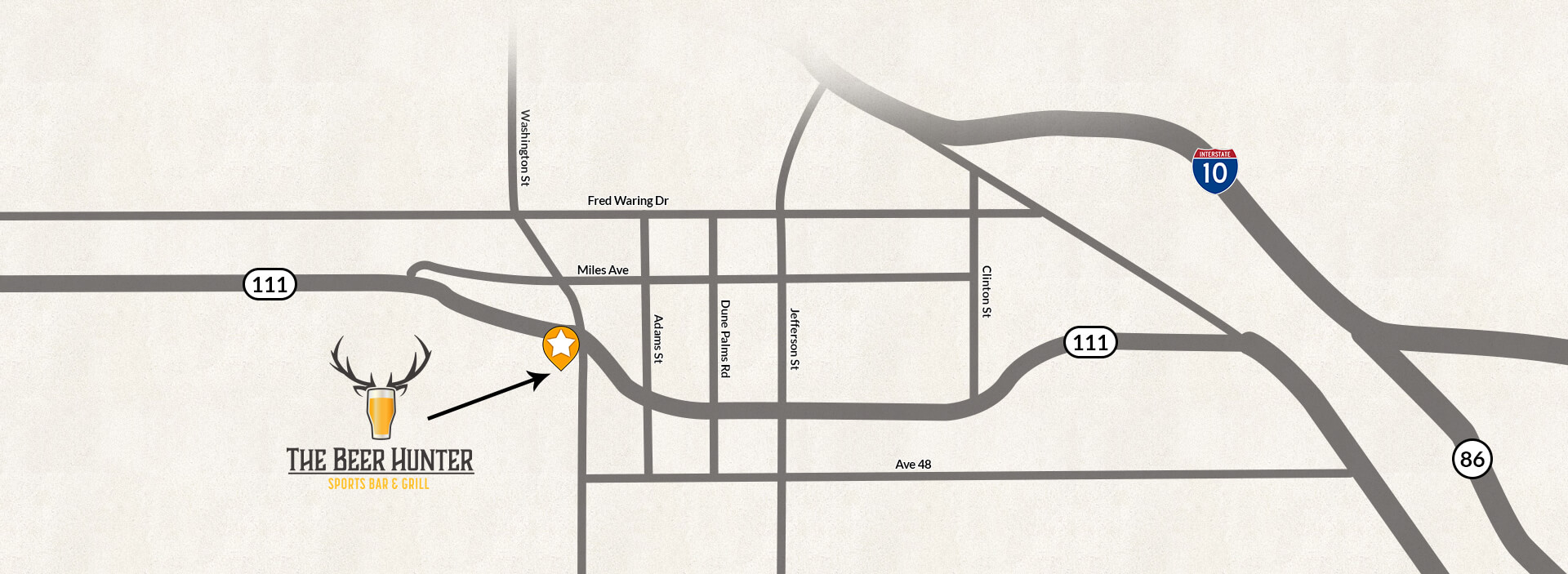 map of the beer hunter's location