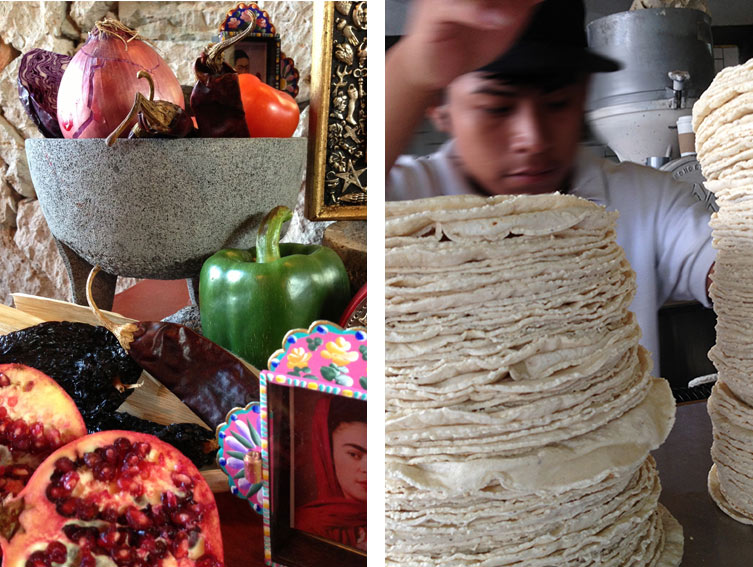 fruits and vegetables and tortillas