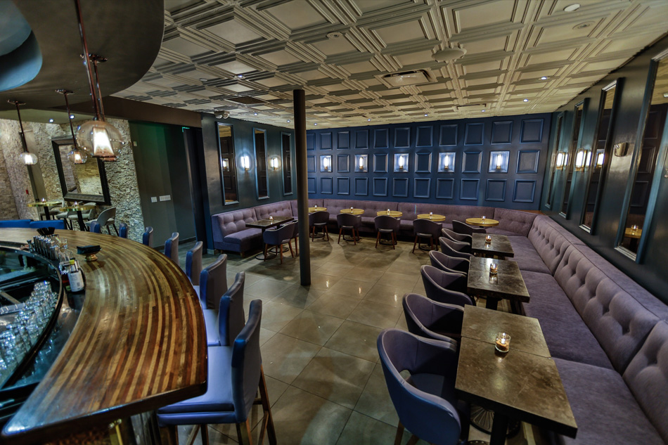 space in the bar