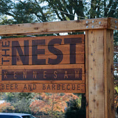 The Nest sign