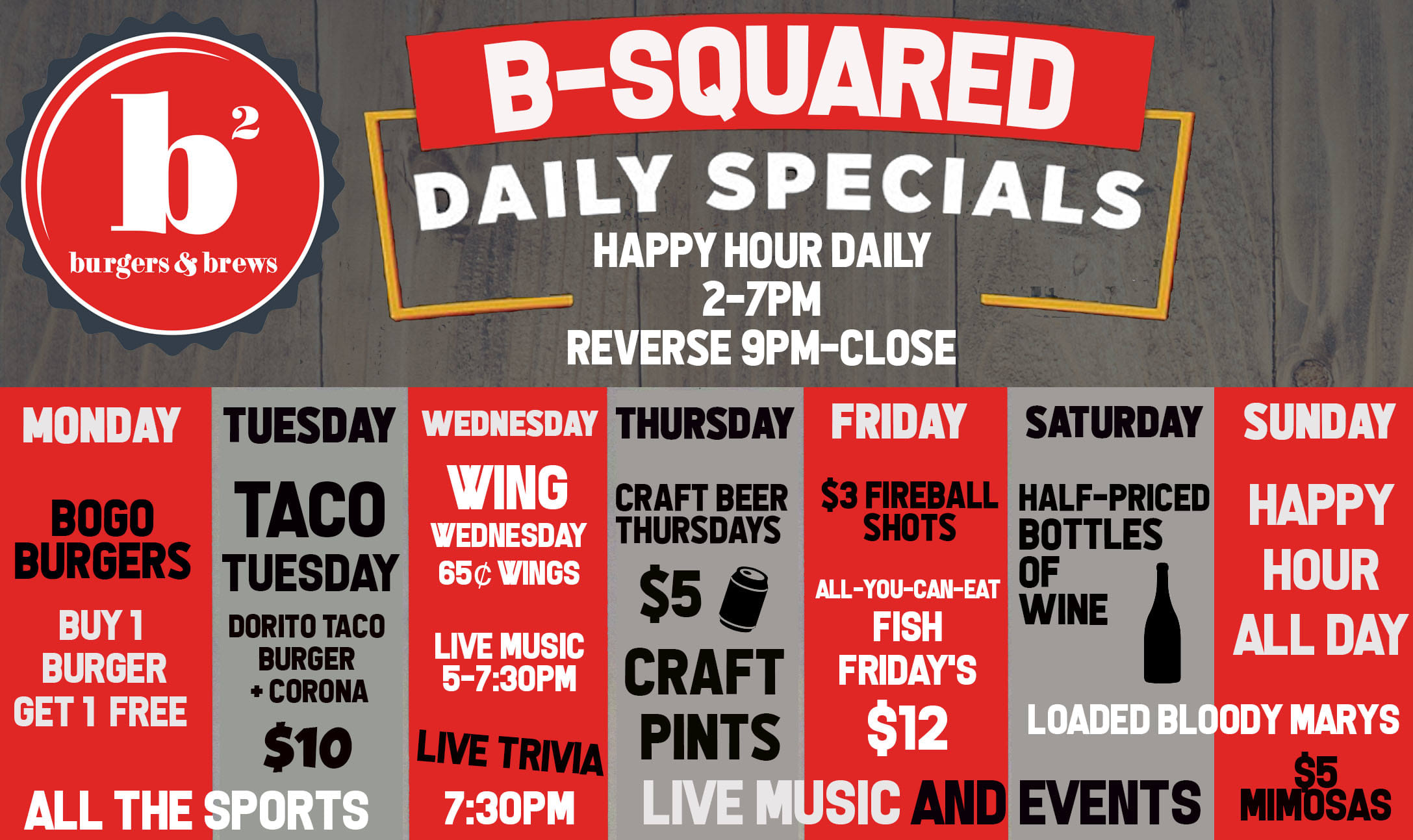 bsquared daily specials