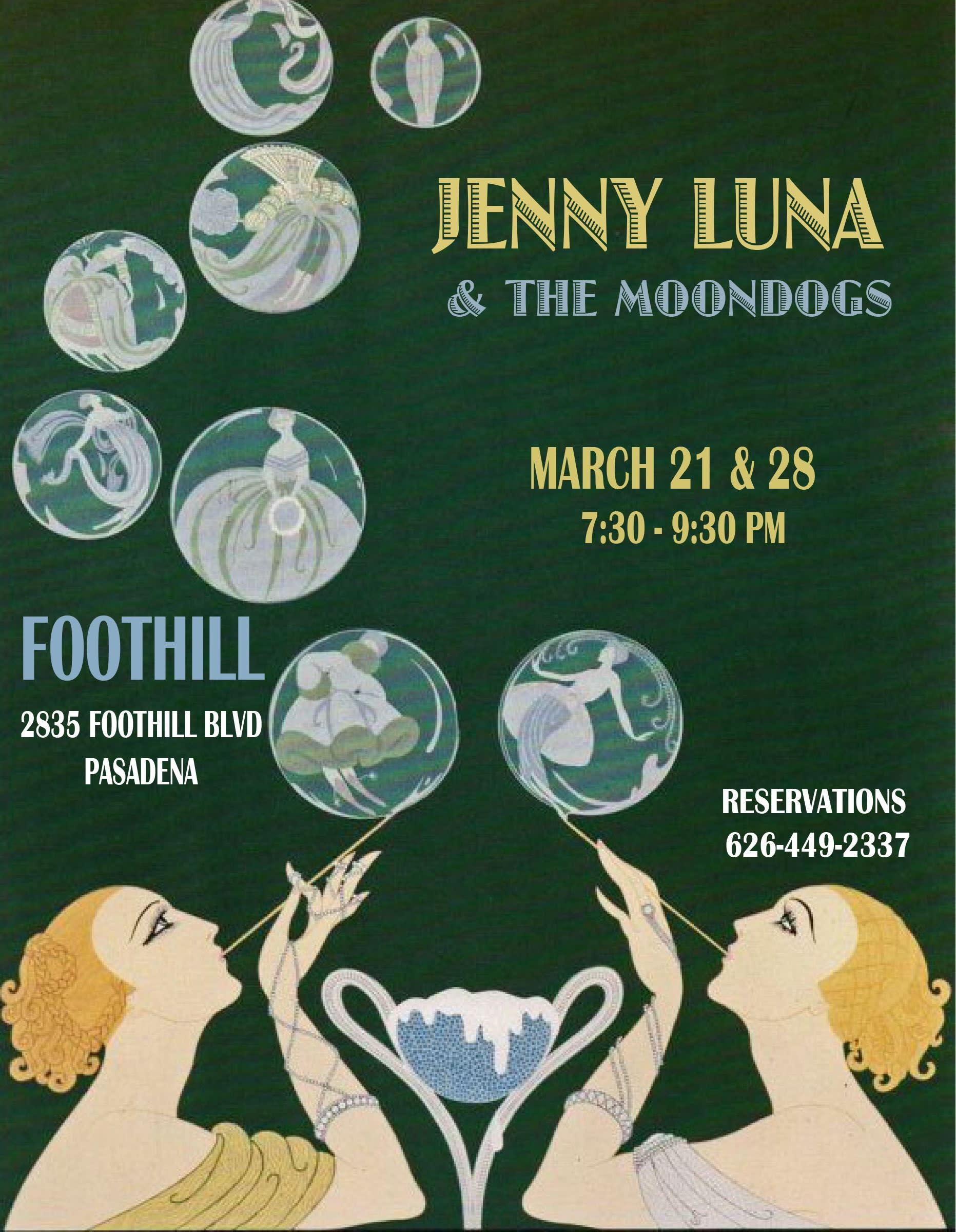 Jenny Luna + Moon dogs flyer
