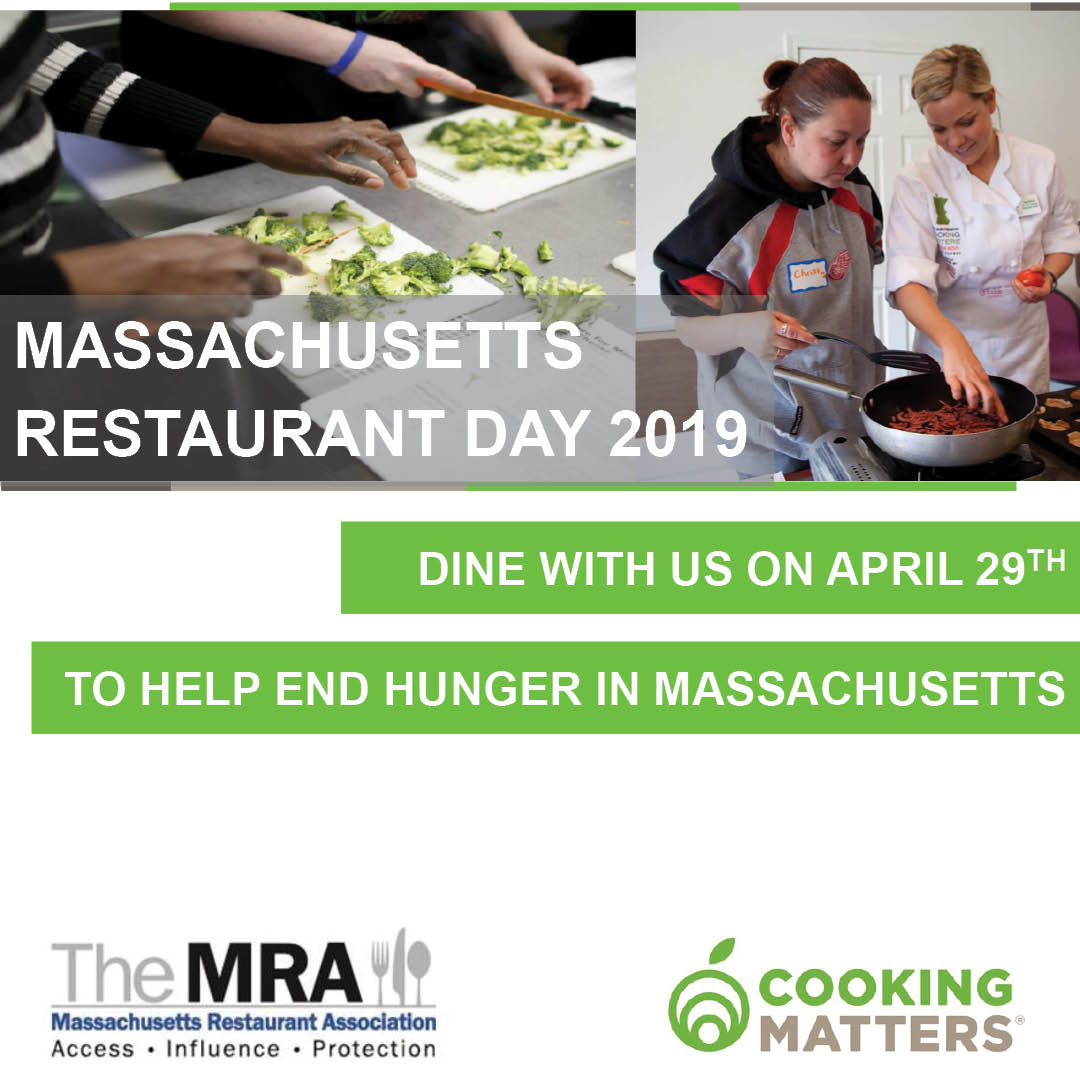 Massachusetts restaurant day 2019 - dine with us on april 29th to help end hunger in massachusetts