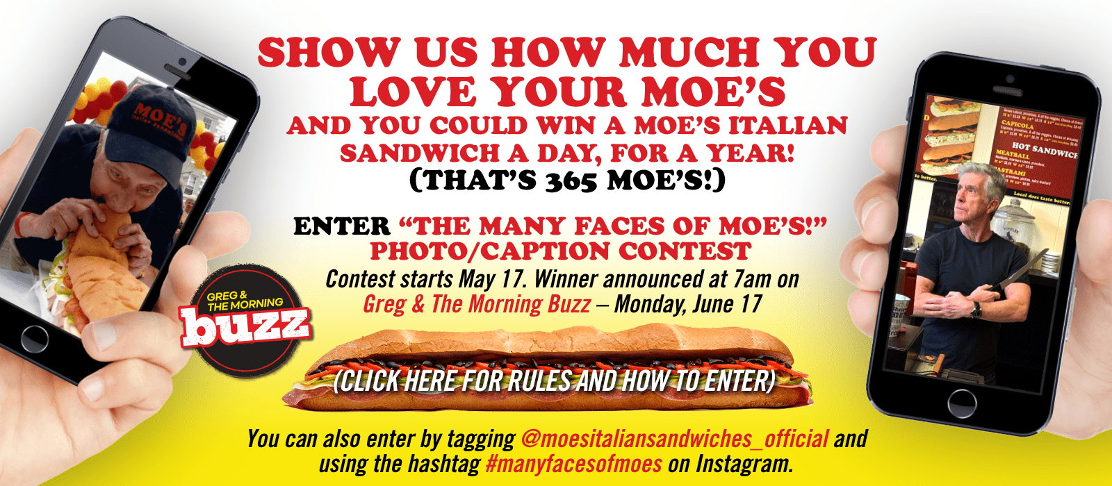 Show Us How Much You Love Your Moe's contest flyer