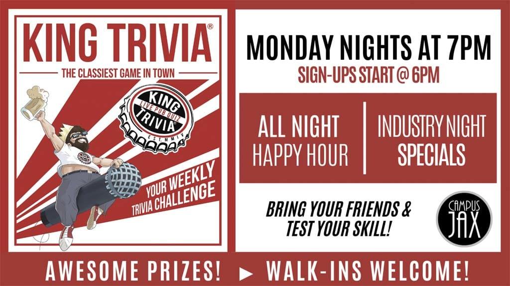 King Trivia - Monday Nights at 7pm