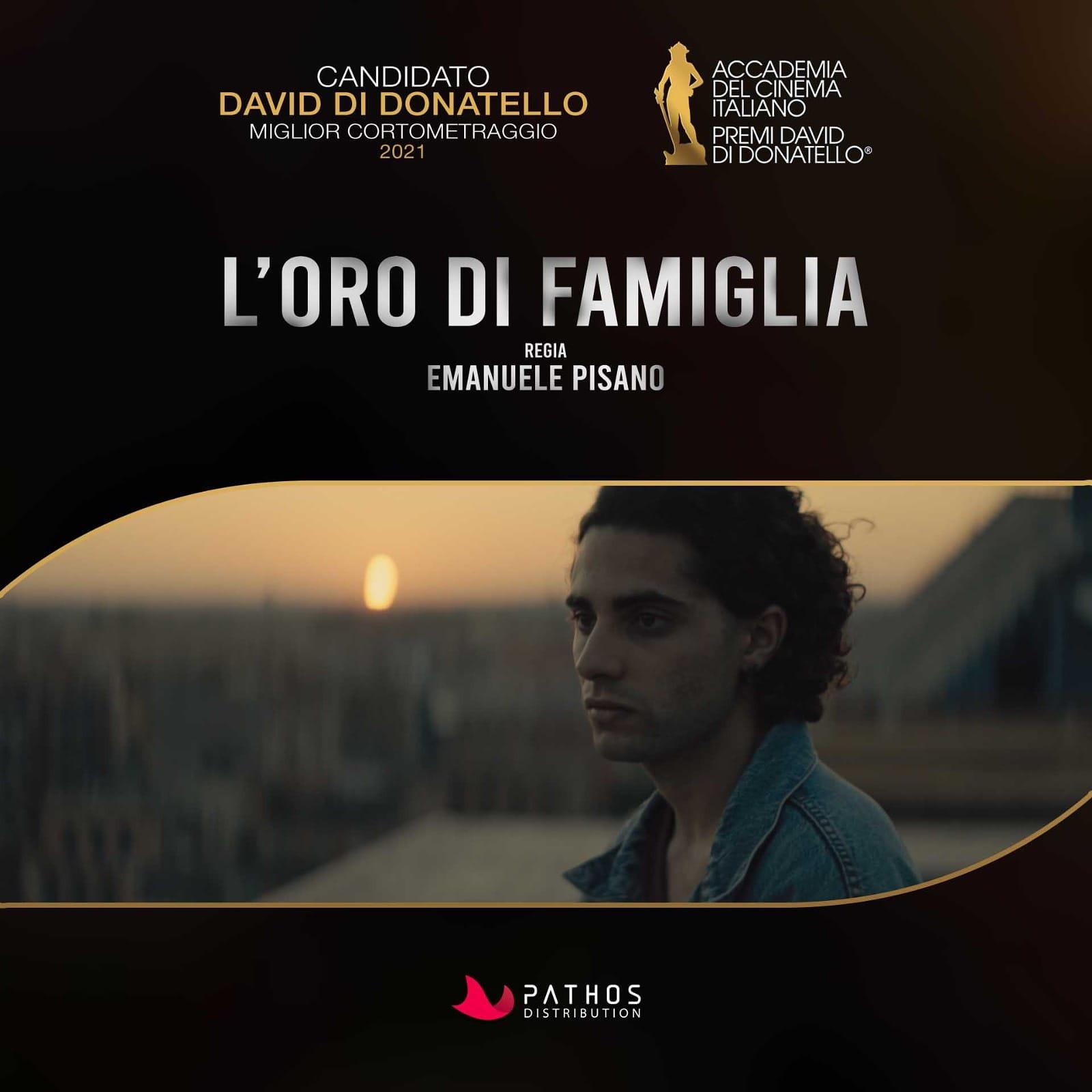"""Emanuele Pisano approda al  David di Donatello  con """"L'oro di famiglia"""""""